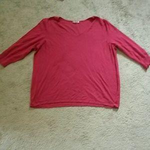 Dress barn orange red 3/4 sleeve sweater